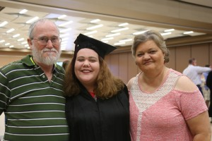 Laura Marie Barrett, center, with her father, William, and her mother, Marie (Hinds Community College/April Garon)