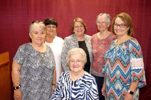 Standing, from left, Kay Jones, Shirley Williams, Dr. Libby Mahaffey, Florence Lewis and Judy Fortenberry; seated is Bobbie Anderson (Hinds Community College/April Garon)