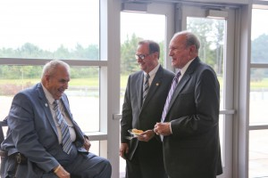 Hinds President Dr. Clyde Muse, left, with Sen. Dean Kirby of Pearl and  Rep. Ray Rogers of Pearl at the Rankin Campus Centennial celebration