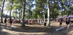 Participants in Hinds Community College's Thursday Night Lights can visit different tents to learn about programs and get a bite to eat before the football game.