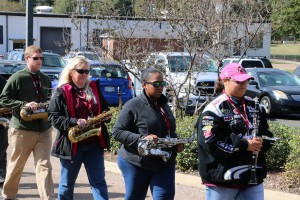 Alumni of the Eagle Band joined current members in activities at the Calling All Eagles tailgate event at Hinds Community College Raymond Campus on Oct. 28, 2017. (Hinds Community College/Tammi Bowles)