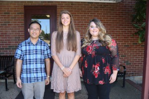 From left, Phuoc Phan, of Clinton; Sarah Smith, of Clinton; Keri Lopez. of Petal (Hinds Community College/April Garon)
