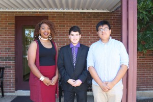 From left, Kameisha Smith, Oscar Castro, Jeffrey Rodriguez-Cano (Hinds Community College/April Garon)