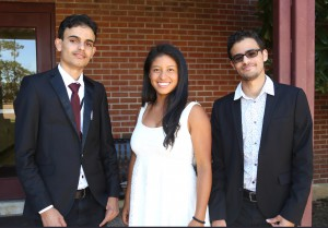 Zaid Qasem, Stefy Varón Diaz and Muammar Saeed; all reside in Clinton (Hinds Community College/April Garon)
