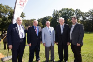 From left, Dr. Clyde Muse, Marvin Moak, Joe Loviza, Donald Oakes and Chad Shealy (Hinds Community College/April Garon)