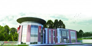 A rendering of the Career & Academic-Technical Building, courtesy of Durrell Design Group, PLLC