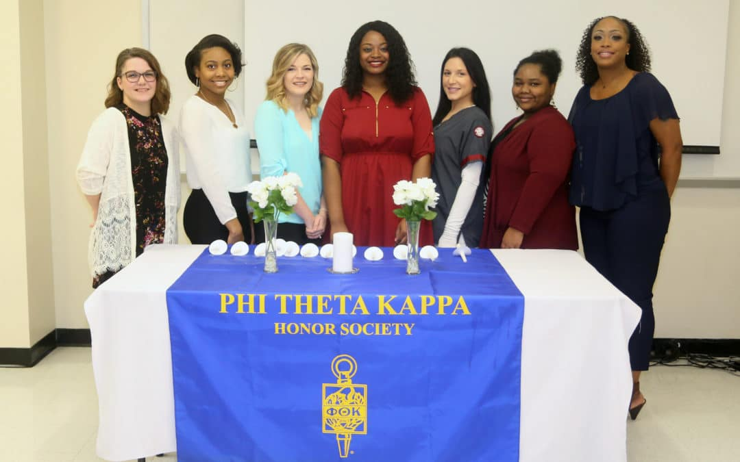 Phi Theta Kappa chapter at Hinds CC Nursing Allied Health Center inducts new members