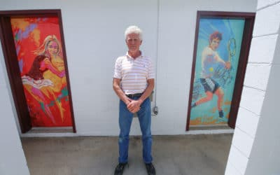 Hinds alum adds artistic finishing touch to new tennis center