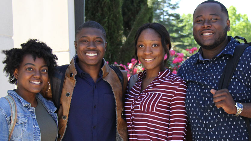 two black male and two black female students