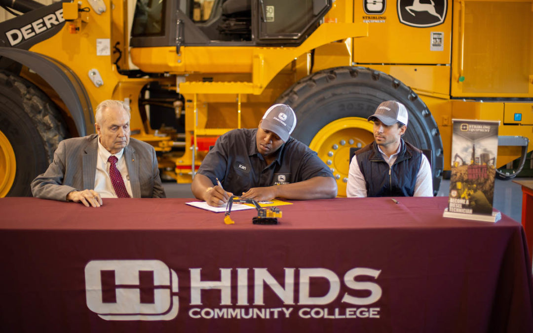 Diesel Technology student signs first-ever Stribling apprenticeship agreement