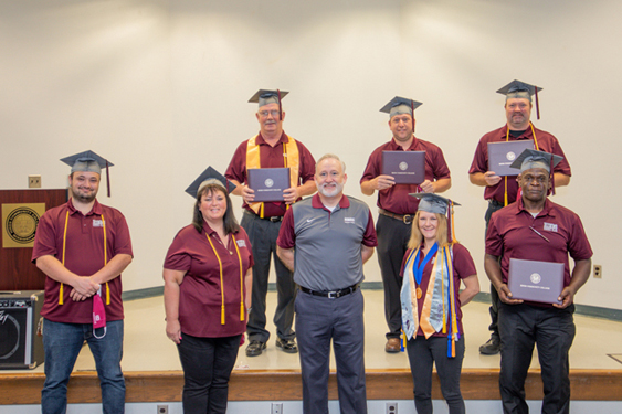 Seven instructors at Hinds CC Vicksburg-Warren Campus earn credentials