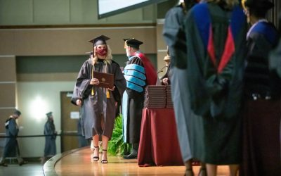 Nursing and allied health students graduate